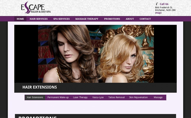 escape-beauty-website