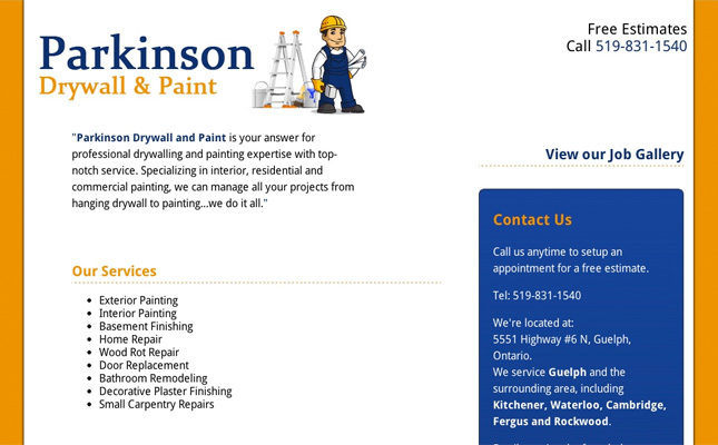 parkinson-drywall-website