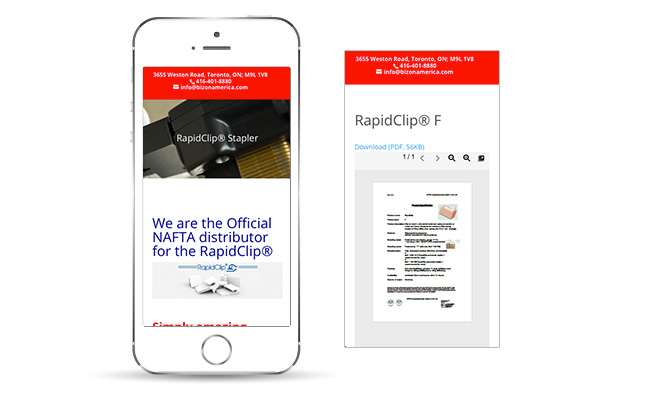 bizon-america-rapidclip-mobile-website